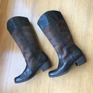 UGG AUSTRALIA BROWN LEATHER BOOTS 7 STYLE CASSIS